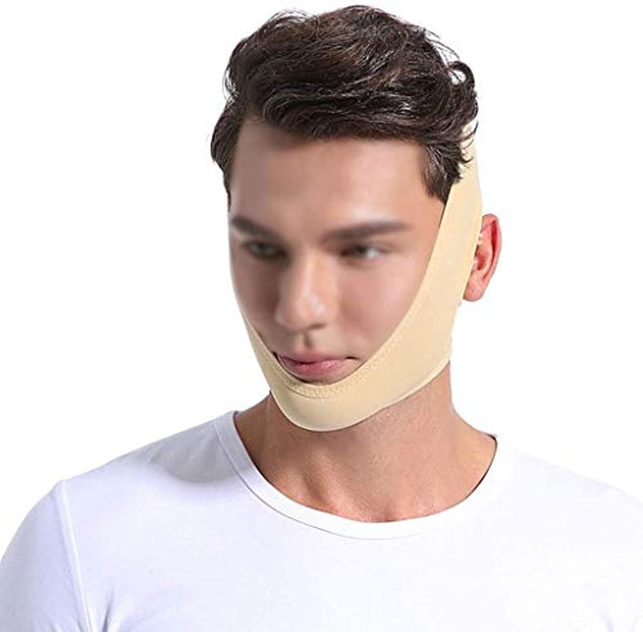 貪欲バンジージャンプ撃退する美容と実用的なフェイスリフティング包帯、フェイスマスキングリカバリーマスク男性と女性の顔の包帯フェイスリフティングアーティファクト