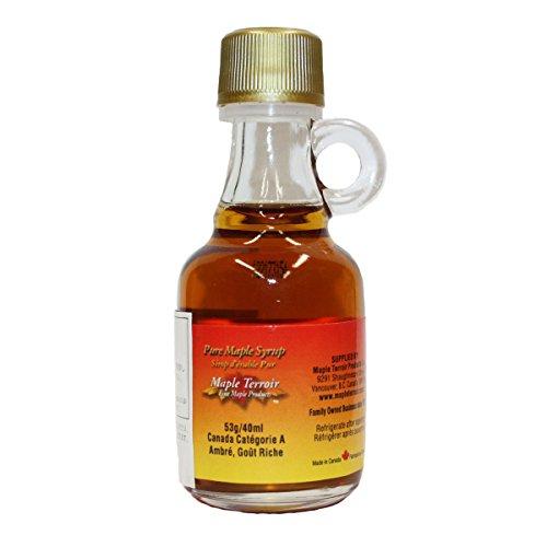 カナダ産 100% ピュア メープルシロップ グレードA ダーク(ロバストテイスト)  40ml/53g(瓶) 6本 メープルテルワー