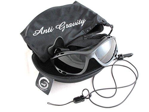 Anti Gravity 偏光サングラス 【ツヤ消しブラック】 バンド式 水に沈みにくい ハードケース付き マリンスポーツ スノースポーツ サイクリング ジョギング 登山 釣りなどに アンチグラビティ