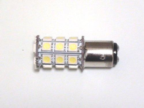 S25 27連 LED バルブ ダブル球 ホワイト 2個セット テールランプ・ブレーキランプに