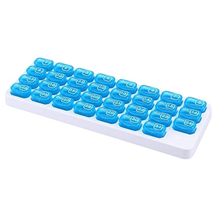 リア王テーブルゴシップWINOMO 薬ケース ピルケース 習慣薬箱 薬入れ 小分け ケース 1ヶ月錠剤保管用 取り外し可能 くすり整理ケース