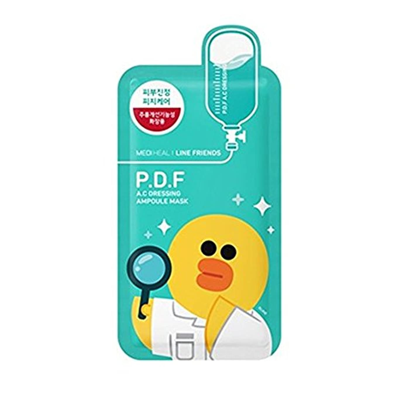 ヶ月目キャップグループ(3 Pack) MEDIHEAL Line Friends P.F.D. A.C. Dressing Ampoule Mask (並行輸入品)