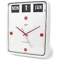 トゥエンコ 置時計インテリア TWEMCO 時計 オシャレ クロック BQ-12 WHITE RED