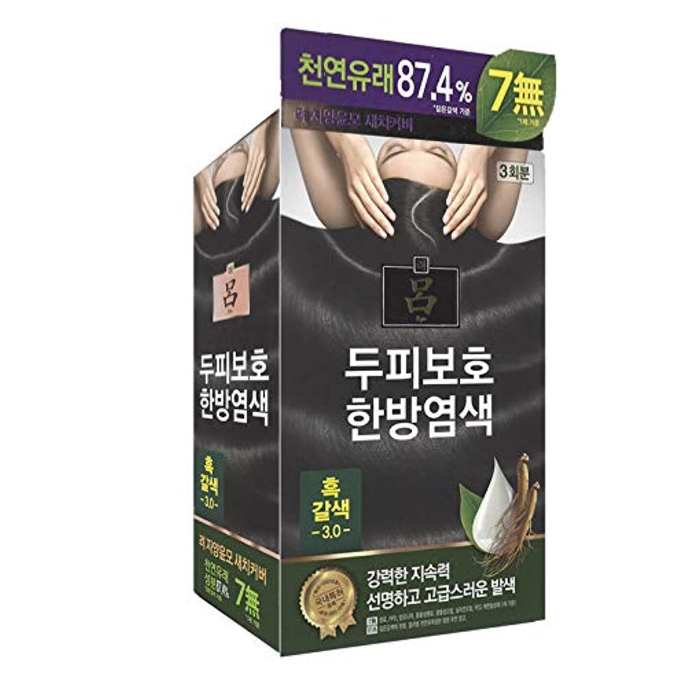 活気づける気配りのある裏切るアモーレパシフィック呂[AMOREPACIFIC/Ryo] Jayang Yunmoグレーヘアカバー 3.0 黒褐色(Blackish Brown)