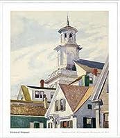ポスター エドワード ホッパー Methodist Church Tower 1930 額装品 アルミ製ハイグレードフレーム(ホワイト)