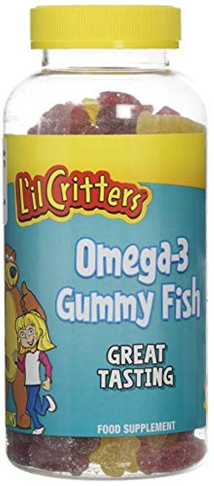 無限大咲く大L'il Critters 子供用 オメガ3 (グミ180錠入り)Omega-3 - 180 Gummy Fish (海外直送品)