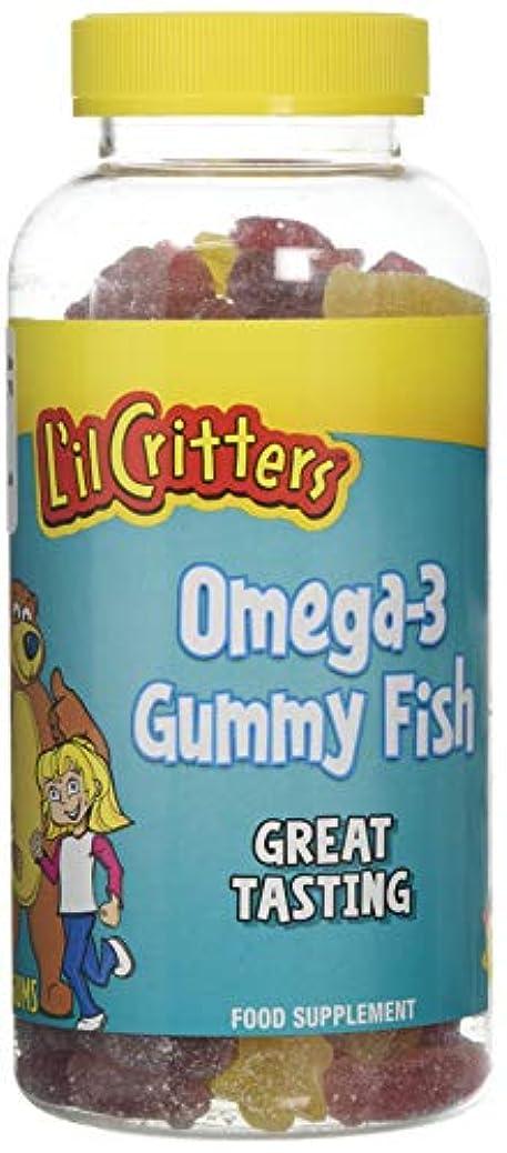 ノーブルリビジョン落胆したL'il Critters 子供用 オメガ3 (グミ180錠入り)Omega-3 - 180 Gummy Fish (海外直送品)