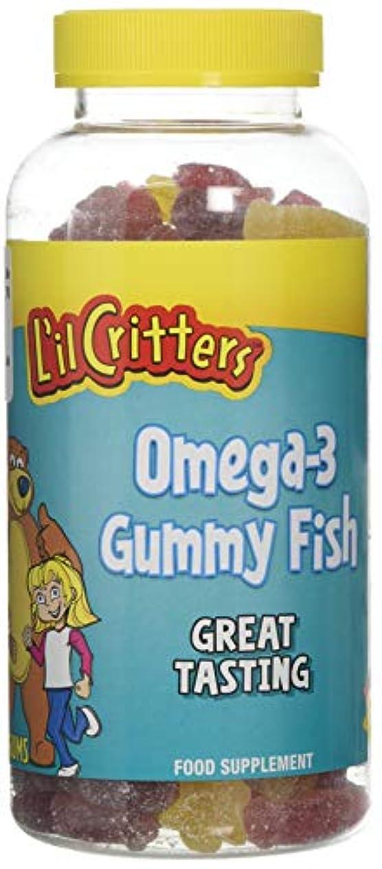 枠残り媒染剤L'il Critters 子供用 オメガ3 (グミ180錠入り)Omega-3 - 180 Gummy Fish (海外直送品)