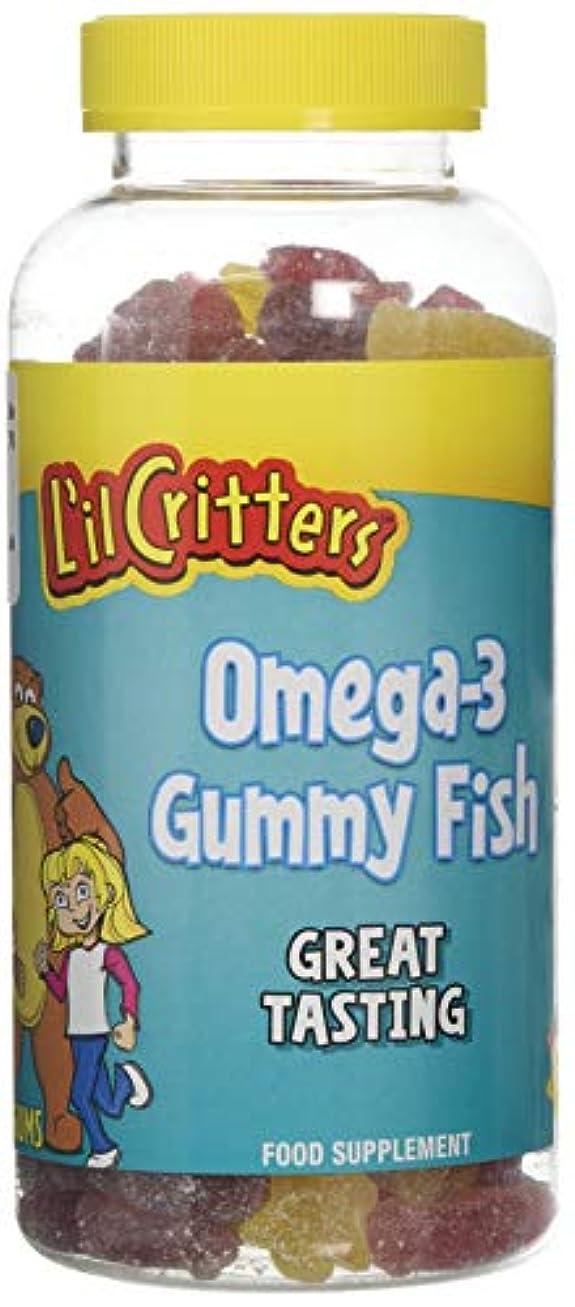 写真を撮るライブ古くなったL'il Critters 子供用 オメガ3 (グミ180錠入り)Omega-3 - 180 Gummy Fish (海外直送品)