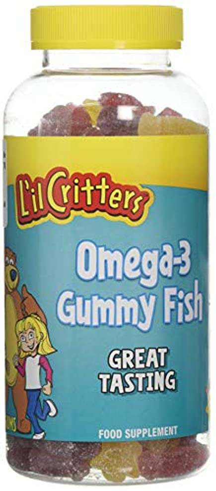 充実創傷手錠L'il Critters 子供用 オメガ3 (グミ180錠入り)Omega-3 - 180 Gummy Fish (海外直送品)