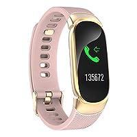 スマートブレスレット 多機能スポーツウォッチ, マルチスポーツモード Bluetooth 歩数計 タスクリマインダ 心拍計 血圧計-粉