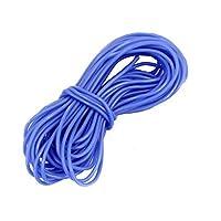 DealMux 28AWG Medidor De comprimento flexível Stranded銅ケーブルシリコンFio Azul 5M para RC