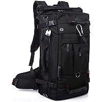 KAKA アウトドア 登山用バッグ 40L オックスフォード ブラック