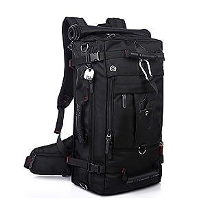 KAKA アウトドア 登山用バッグ 40L オックスフォード ブラック KAKA-2070
