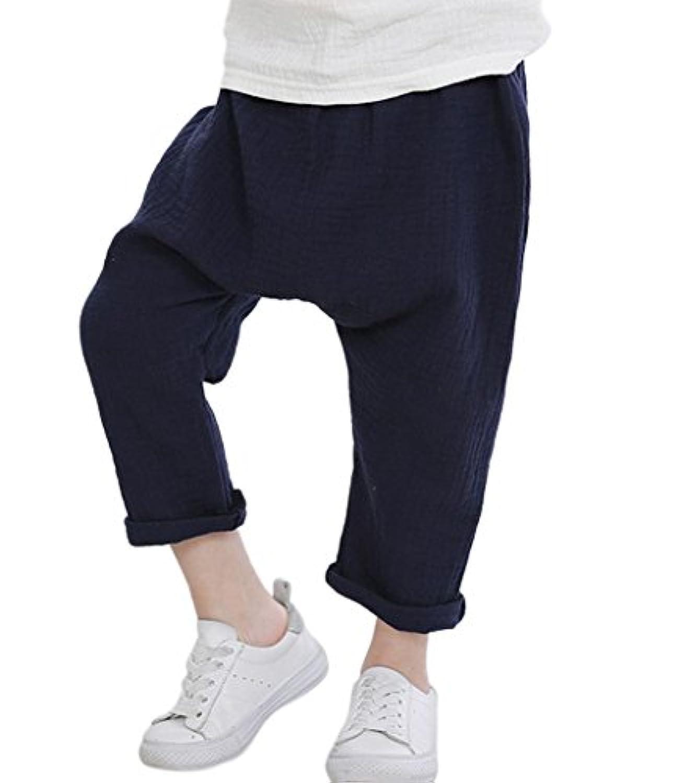 Plus Nao(プラスナオ) サルエルパンツ ズボン 子供服 男の子 サルエル 長ズボン 9分丈 ゆったり 薄手 股上深め ロールアップ おしゃれ オシ