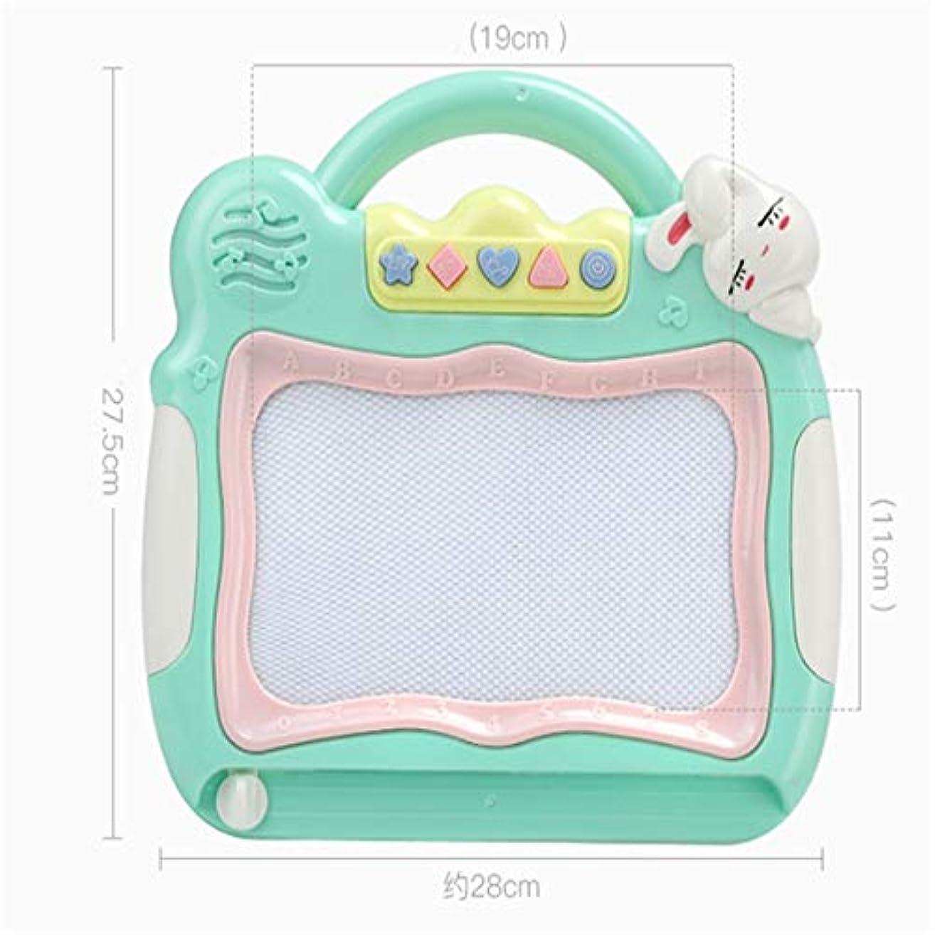 数値チョップオール製図板 子どもの描画ボード磁気ライティングボードペン - カラーグラフィティ音楽会絵画ツール1-3歳2赤ちゃんのおもちゃ Sキッズ製図板 子供用製図板 (Color : Blue)