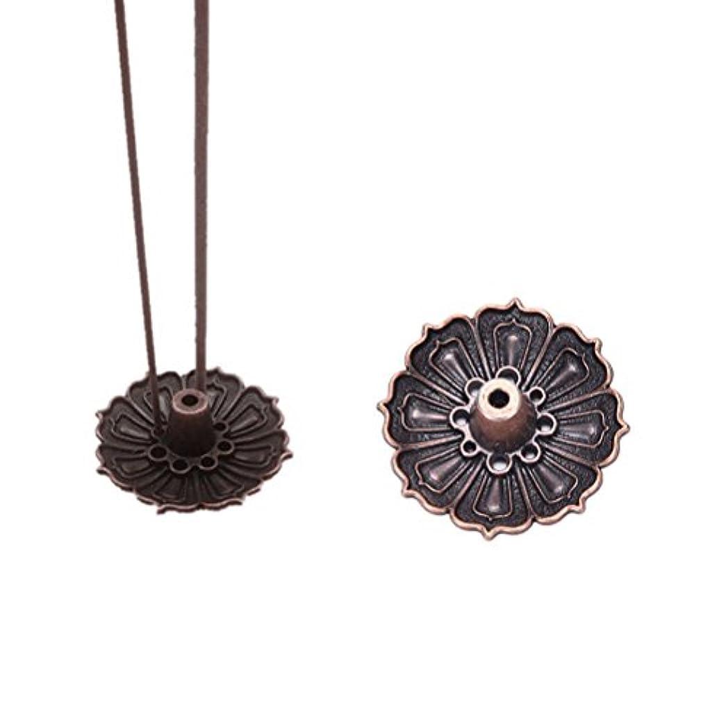 衝撃ぬれたほこりっぽいFidgetGear 9 Holes Lotus Incense Burner Holder Flower Statue Censer Plate For Sticks&Conead