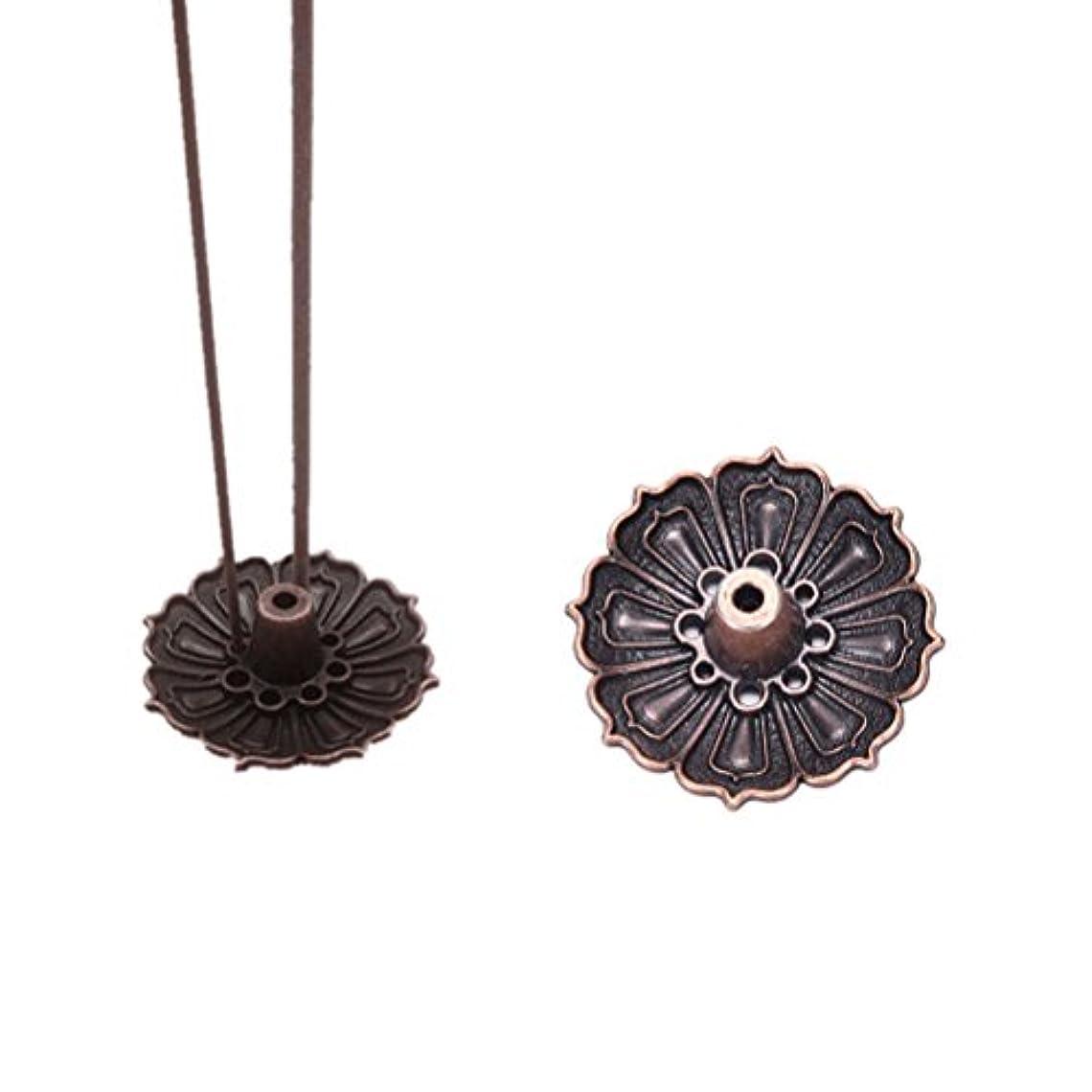 考案する脅威船員FidgetGear 9 Holes Lotus Incense Burner Holder Flower Statue Censer Plate For Sticks&Conead