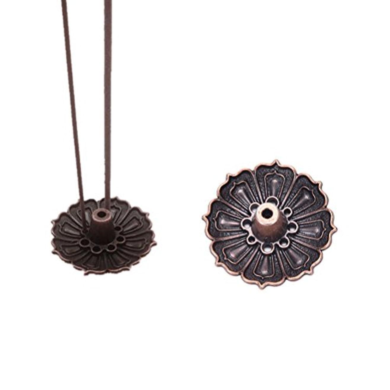 距離完璧取り戻すFidgetGear 9 Holes Lotus Incense Burner Holder Flower Statue Censer Plate For Sticks&Conead