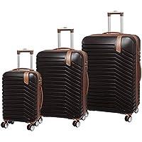 IT LUGGAGE Hardside Luggage Set, 3 Piece, Large 80cm + Med 70 cm + Small 54cm, Coffee Bean