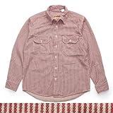 (カムコ) CAMCO 長袖 ヒッコリーストライプ ワークシャツ  レッドヒッコリー Sサイズ