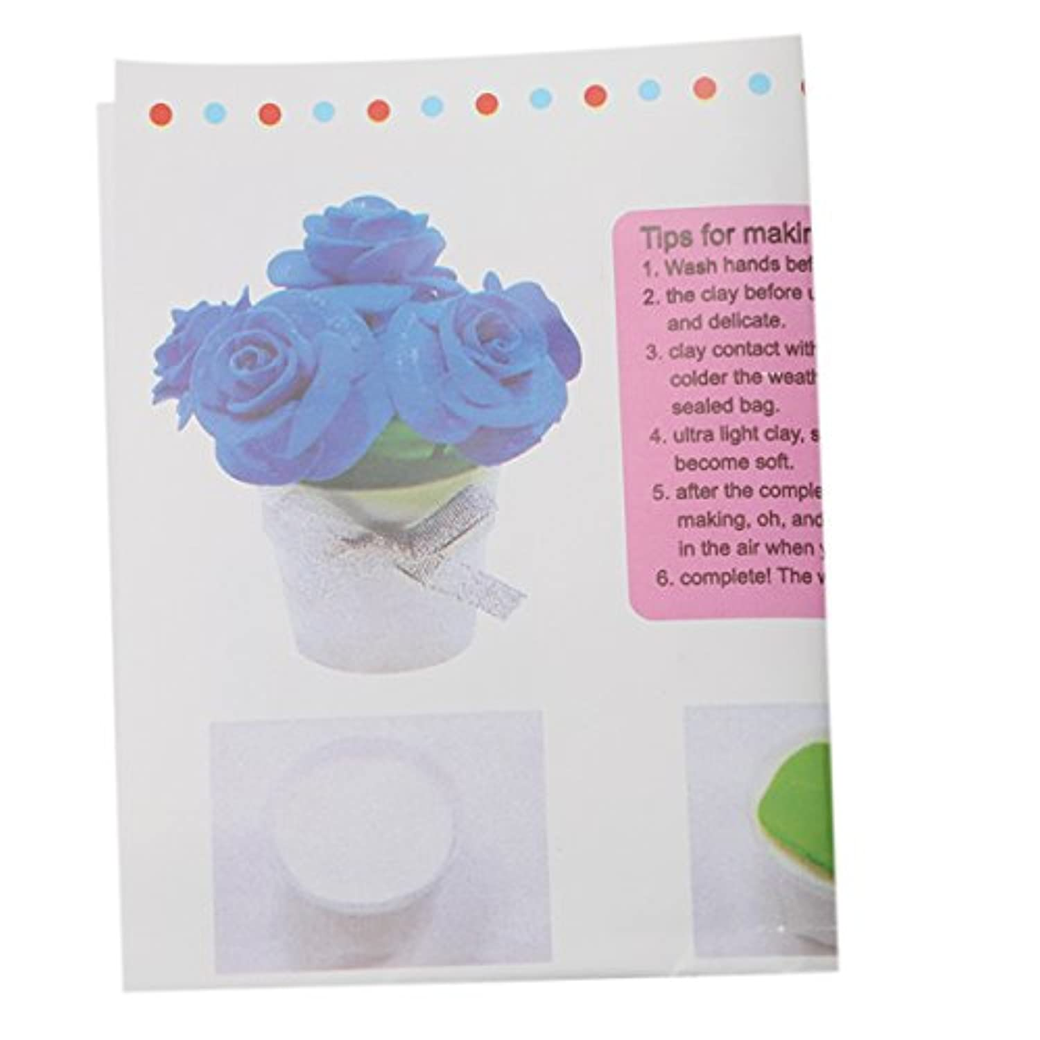 Ch DIY粘Flower Pot Clay植物花Toys for Kids、ホーム装飾 マルチカラー DGHYUY