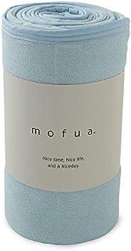 mofua cool(モフアクール) 夏用 タオルケット ブルー ダブル 綿100% リバーシブル (表:タオル地/裏:ひんやり接触冷感) メッシュ構造でムレにくい エアーケット 31750302