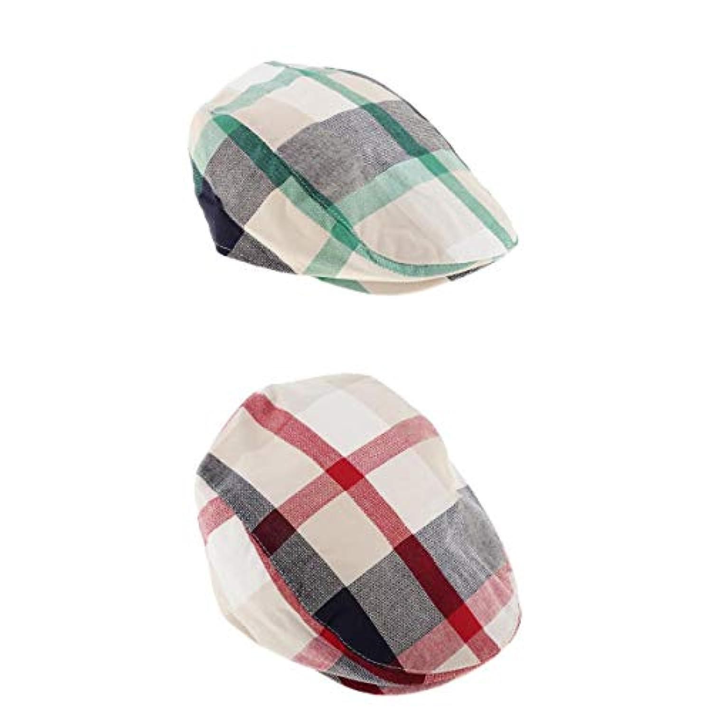 Fenteer 子供 ハンチング フラットキャップ 帽子 ハット ハンチング帽 ベレー帽 春秋冬 軽量