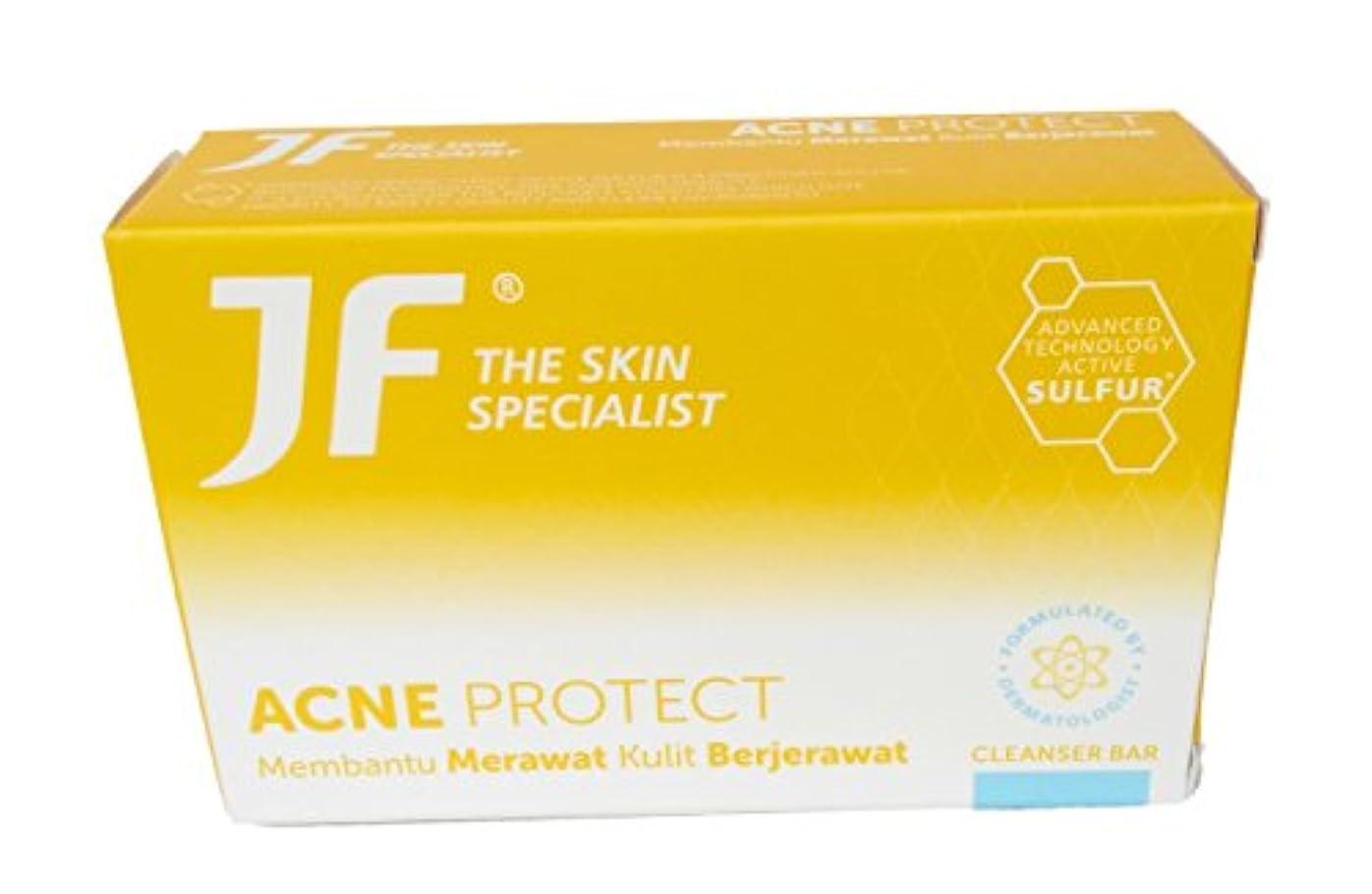 逮捕ちなみにバンケットJF Sulfur 皮膚科専門医のにきびjf石鹸、90グラムを守ります