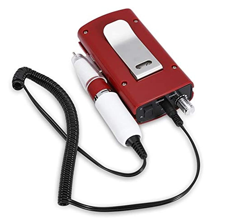 多様な一口粉砕する充電式30000 rpmネイルドリル機ポータブルネイルファイル器具用マニキュアペディキュアマシンニスネイルポリッシャードリルビットサンディングバンド3色