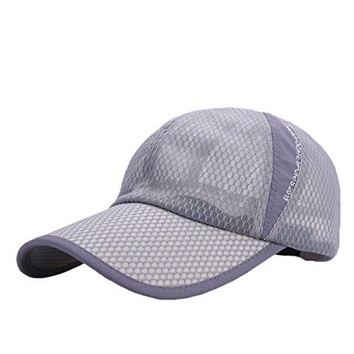 ONE LIMITATION(ワン リミテーション) エアーメッシュ キャップ フリーサイズ UVカット日よけ 帽子 メンズ レディース (03 ライトグレー)
