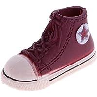 Dovewill ドール用 ファッション 3.7cm  プラスチック  スニーカー  スポーツシューズ 靴   1/6スケール ブライスBJD人形適用 全9色 - コーヒー