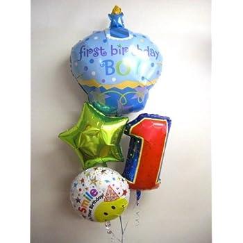 バルーン 1歳 誕生日 ファーストバースデーカップケーキボーイ bb044