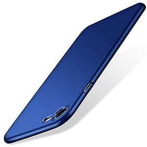 iPhone7ケース TORRAS アイフォン7ケース 超薄型ハードケース アイホン7用カバー ガラスフィルム付き iPhone7保護ケース おしゃれ  高級感 シンプル 手触り良い カメラレンズ 保護 ダークブルー