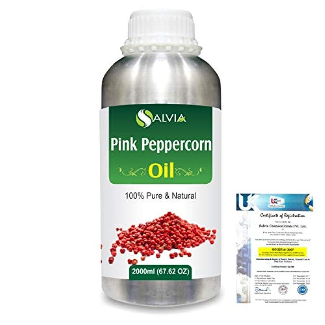 パッケージ応答拍車Pink Peppercorn (Schinus Molle) 100% Natural Pure Essential Oil 2000ml/67 fl.oz.