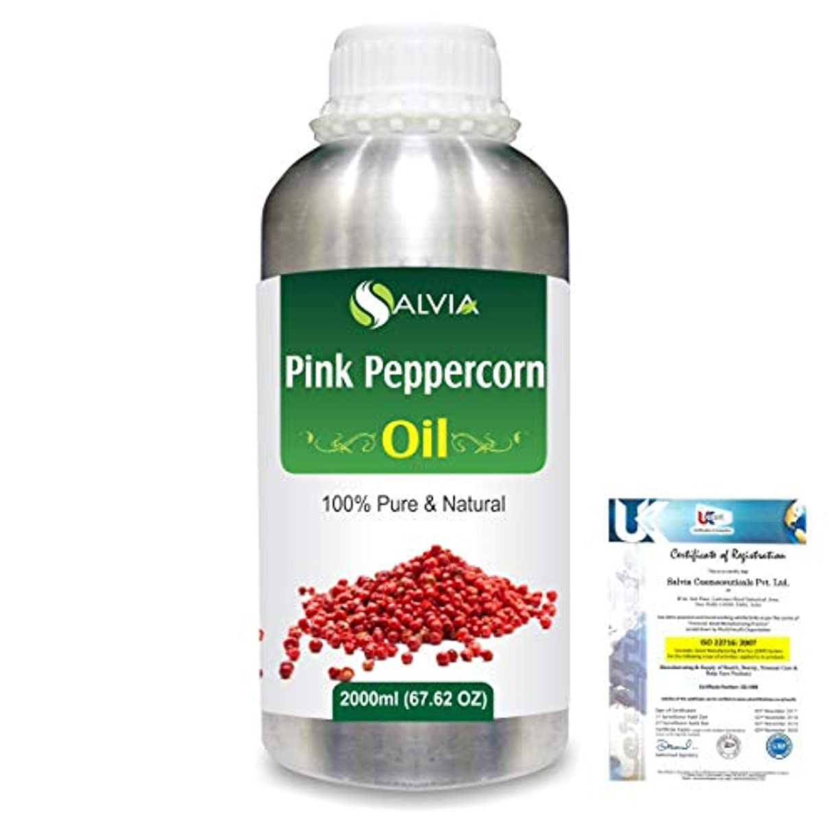 宇宙船寝具物理学者Pink Peppercorn (Schinus Molle) 100% Natural Pure Essential Oil 2000ml/67 fl.oz.