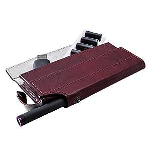 エレコム 電子タバコ Ploom TECH プルームテック ケース オールインワンソフトレザーケース 電子タバコ レッド ET-PTAP1RD