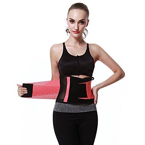 FeelinGirl(JP)腰サポーター 男女兼用 伸縮 通気 軽量 スポーツ ダイエット 保護 腰痛予防 腰痛緩和 姿勢矯正 ベルト 5種類のカラー