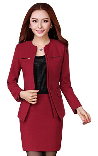 [해외]여성 정장 세트 날씬한 실루엣으로 예쁜 스타일 매료 ♪ 2 점 구입 W158 XL (정장 | 스커트) 레드/Women`s suit set with slim silhouette~ beauty style charm ♪ 2 points purchase W158 XL (suit | skirt) red