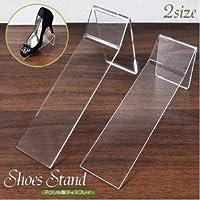 【Sサイズ5個】アクリル製靴スタンド パンプス?シューズディスプレー ds-777024