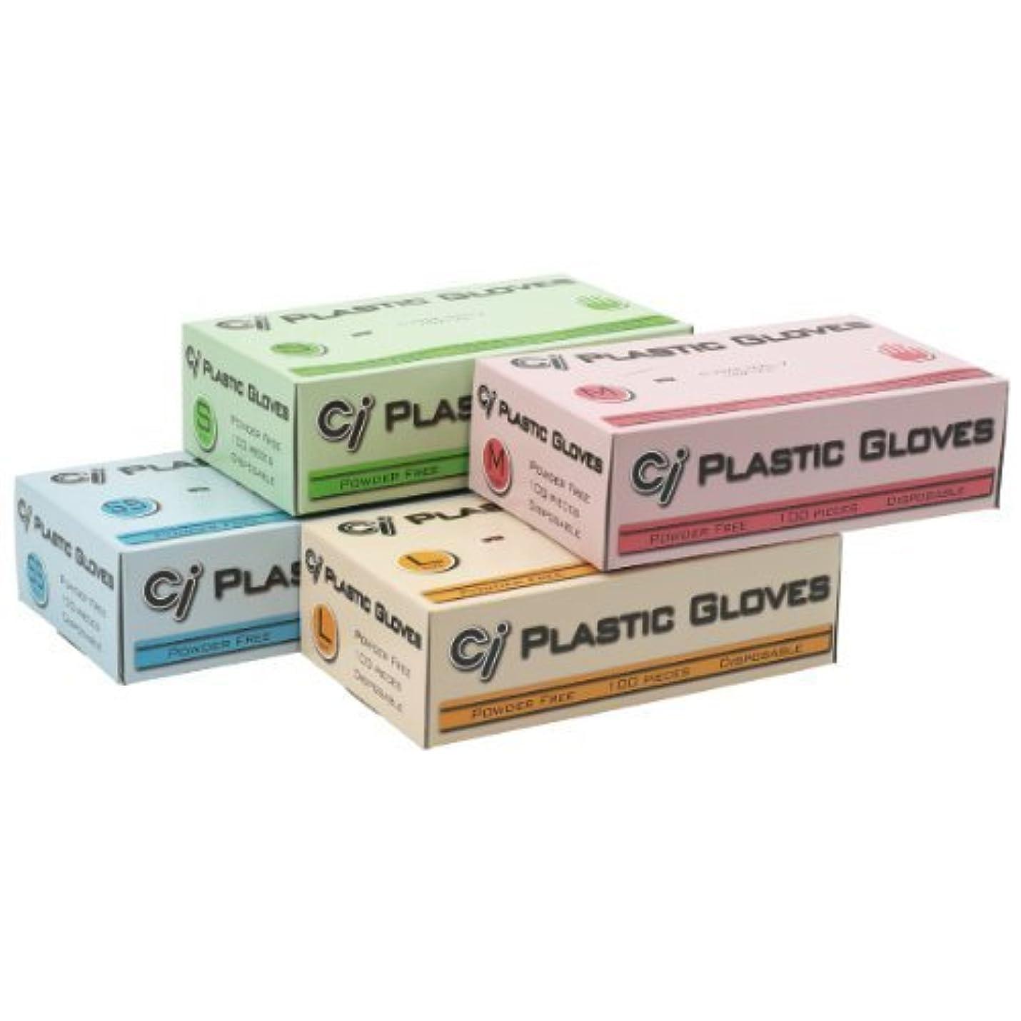 残りおそらく吸収Ci プラスチックグローブ(パウダーフリー)Mサイズ 1箱(100枚入) ※返品不可