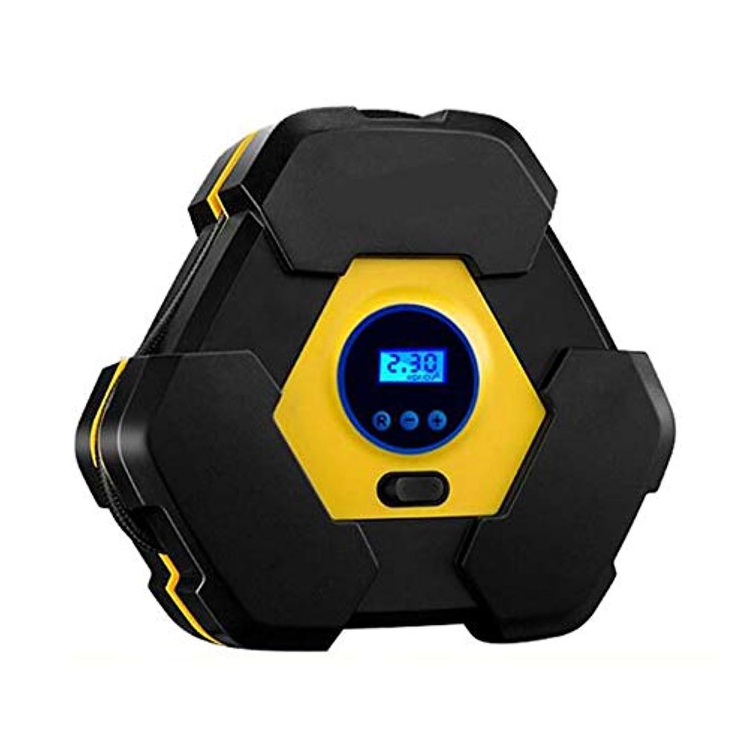 排出小切手彼ら自動車タイヤボールインフレータブルオブジェクトのポータブルデジタル表示オートエアーコンプレッサーポンプDC 12V 150PSI