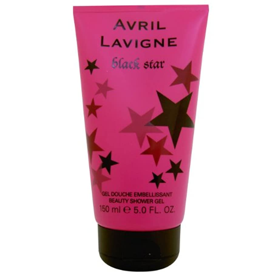決定的十年言い聞かせるAvril Lavigne Black Star Shower Gel 150ml by Unknown by Unknown