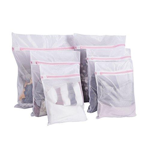 6枚セット 洗濯ネット ランドリーネット ホワイト ネット 洗濯 大型 中型 小型 洗濯袋セット 旅行袋 用途 赤ちゃんの服 下着 洗濯 オーガナイザー 旅行