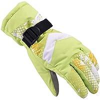 大人用アウトドア手袋冬暖かく厚くなるスキーライディンググローブ、グリーン