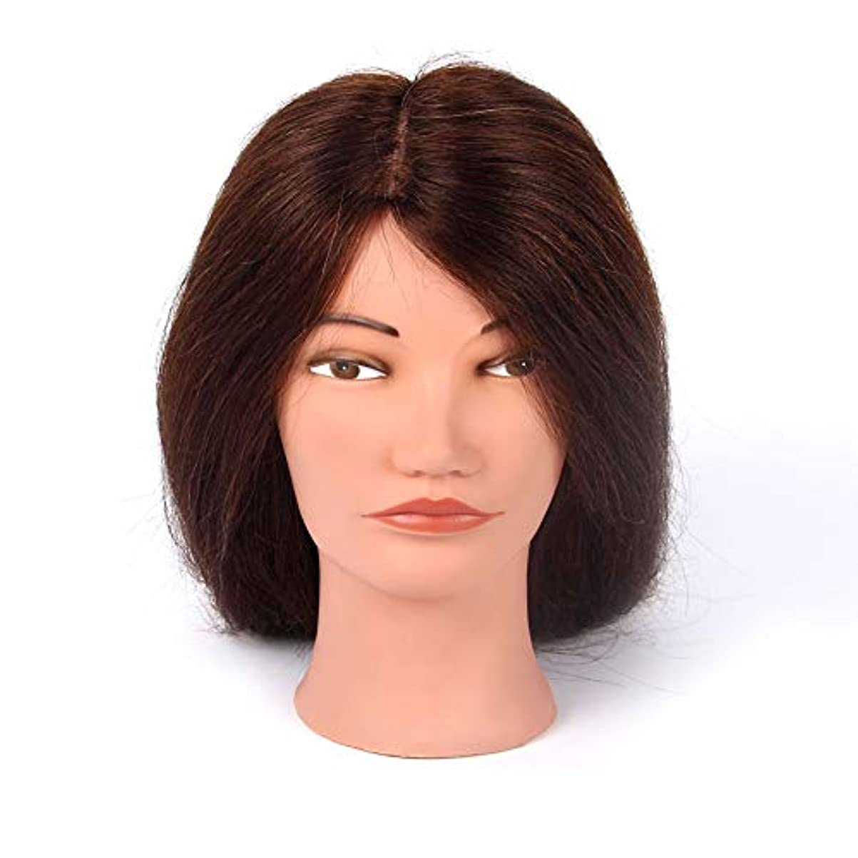 敏感な洪水ケーキ理髪練習ヘッド吹くホットロールダミーヘッドパーマ髪の染め指導ヘッドメイクアップヘアスタイリングモデルヘッド