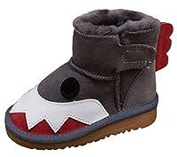 (コ-ランド) Co-land ベビー靴 ムートンブーツ スノーブーツ 可愛い 男の子 女の子 ブーツ 裏起毛 防寒 保温 真冬対策 子供シューズ ファーストシューズ 12 グレー