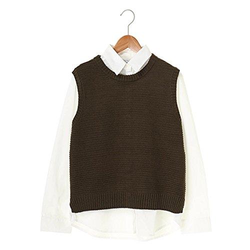 セブンデイズサンデイ(レディース)(SEVENDAYS SUNDAY) レギュラーシャツ付 ノースリーブニットベスト