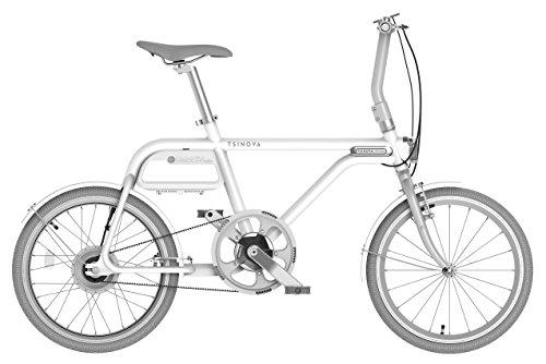 チノーバ(Tsinova) TS01 スマート 電動アシスト自転車 20インチ 【型式認定試験合格済 ベルトドライブ 5.8Ahリチウムイオンバッテリー搭載 Bluetooth スマートフォン連動】 AR-TN20TS 白磁
