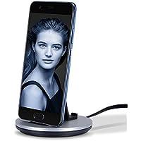 Type C急速充電同期スタンド付きType C充電ドック スマホ立て 卓上ホルダー 充電クレードルSamsung Galaxy S8/Note 7/A3/A5 /Huawei honor 8,Huawei P9, HTC 10/Sony Xperia X Compact / Xperia XZ 、 Nexus 5X/6P、LG G5、G6 HTC 10、Lenovo ZUK Z1/Z2 、OnePlus 2/3 対応 2台端末同時スタンド ケーブル一体型 3in1 (シルバー) (シルバー)